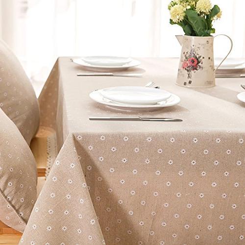 ColorBird Flower Cotton Linen Dustproof Table Kitchen Pub Tabletop Decoration