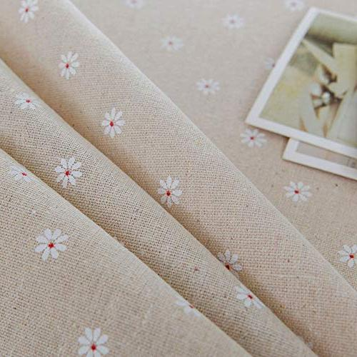 ColorBird Daisy Linen Tablecloth Dustproof Table Kitchen Dinning Tabletop Decoration