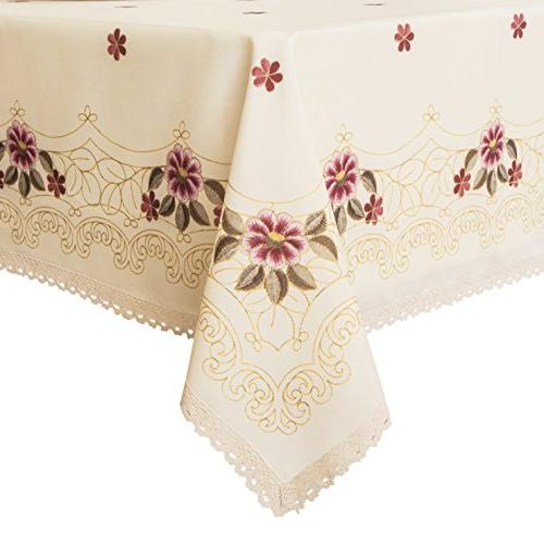 decorative red floral print lace