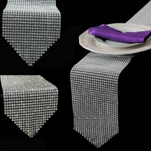 Luxury Diamond Bling Table Runners Rhinestone Table Cover Ho