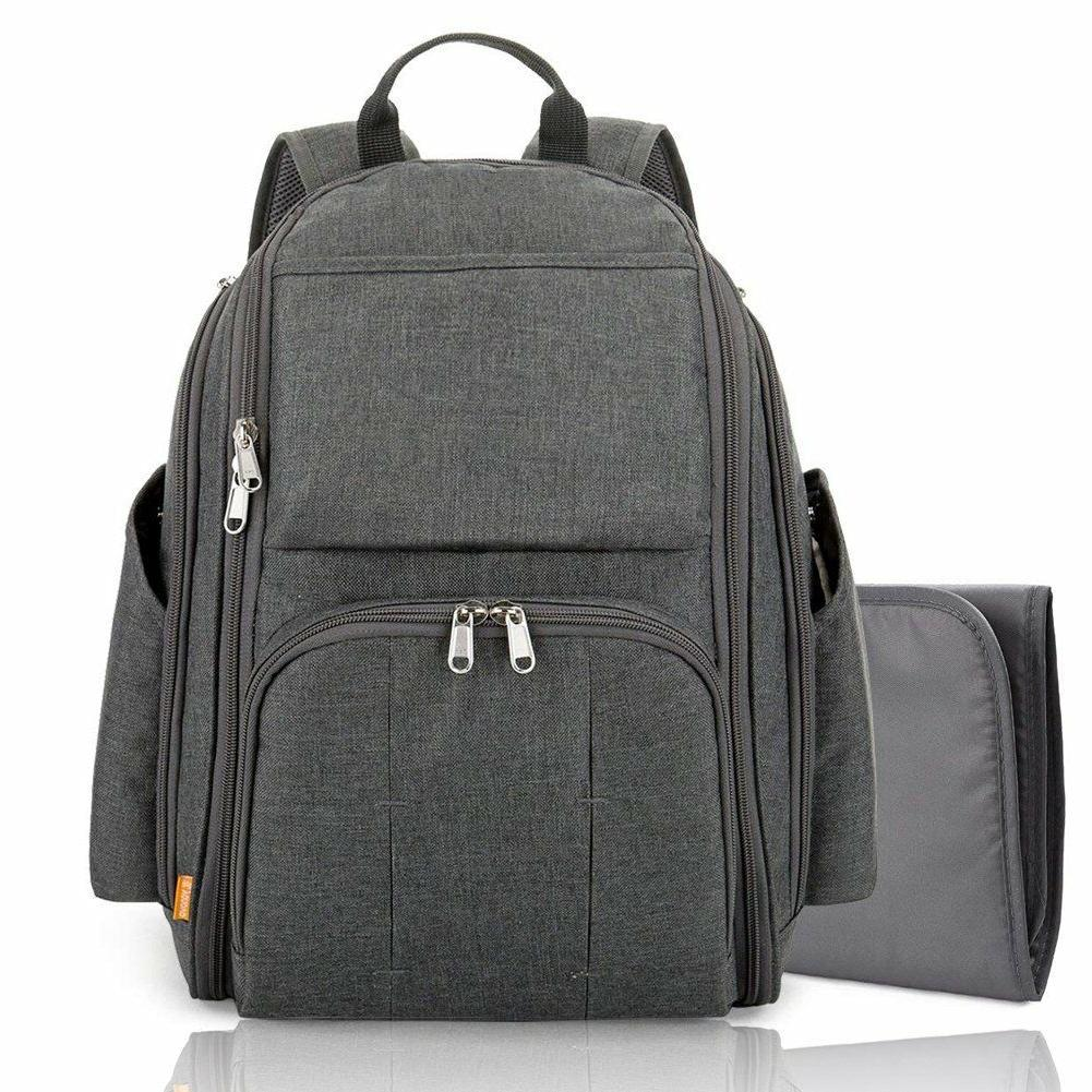 diaper bag backpack w changing station multi