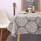 ColorBird Solid Cotton Linen Tablecloth Waterproof Macrame L
