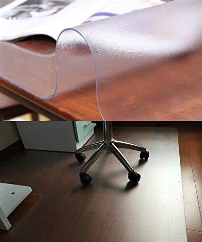 """Frosted Protector Large Tablecloth Protector Tablecloth PVC Pads Dining Table Cover Desk Mat Pad for 44"""" x 60 Inch"""