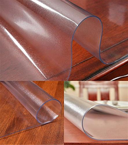 Frosted Table Tablecloth Tablecloth Waterproof Wipeable PVC Pads Rectangle Table Cover Mat for 42 x Inch