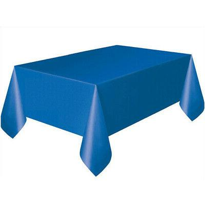 1 Pc Elegance PEVA Rectangle Disposable Table Cover For Wedd