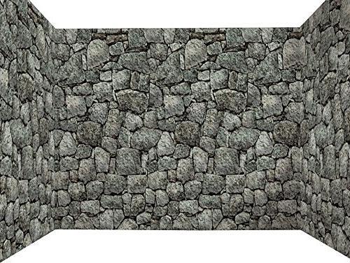 dungeon stone wall backdrop halloween