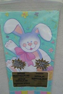easter bunny plastic tablecloth