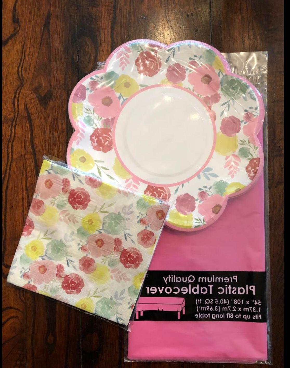EASTER SPRING TABLE COVER NAPKINS DECORATIONS SET