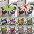 Elastic Edged Waterproof Table Cover Tablecloths Stretch to