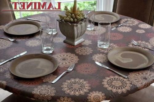 elastic fitted table cover medallion small round