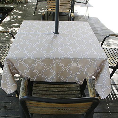elegant moroccan tablecloth waterproof spillproof
