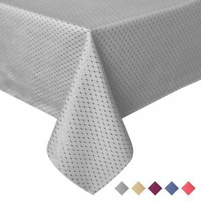elegant waffle jacquard tablecloth waterproof table cover