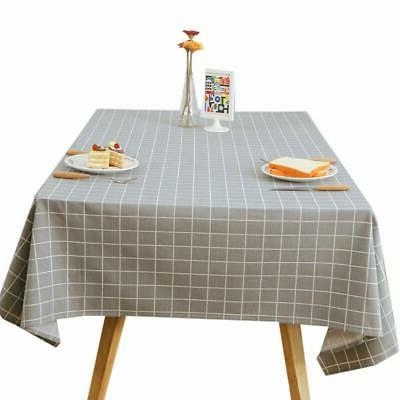 elegant waterproof tablecloth dust proof table cover