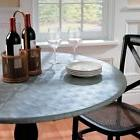 Embossed Metallic Round Elasticized Vinyl Table Cover Dining
