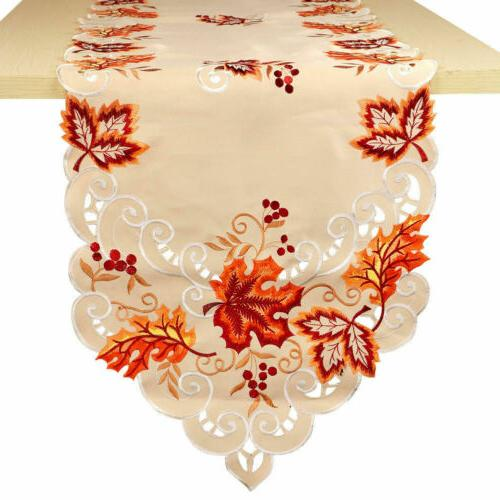 Embroidered Handmade Leaves Cover Party Decor