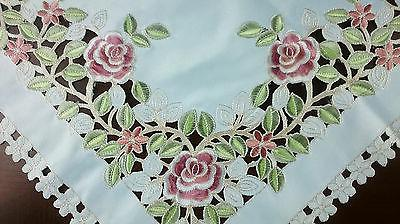 embroidery cutwork 45 square tablecloth night stand