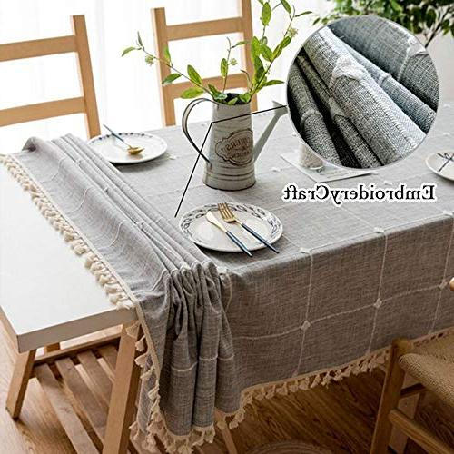 Tablecloth Cotton Washable Cover, Wedding