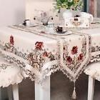 Embroidery Pattern Hollow-out Table Cover Cloth For Home Dec