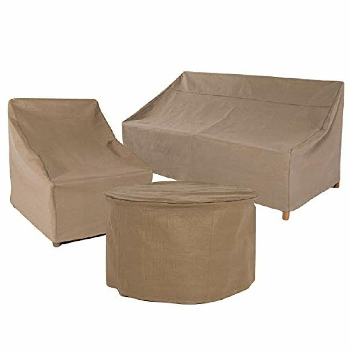 Duck Covers Essential Patio Table Set Cover, Fits