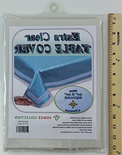 extra clear durable heavy tablecloth