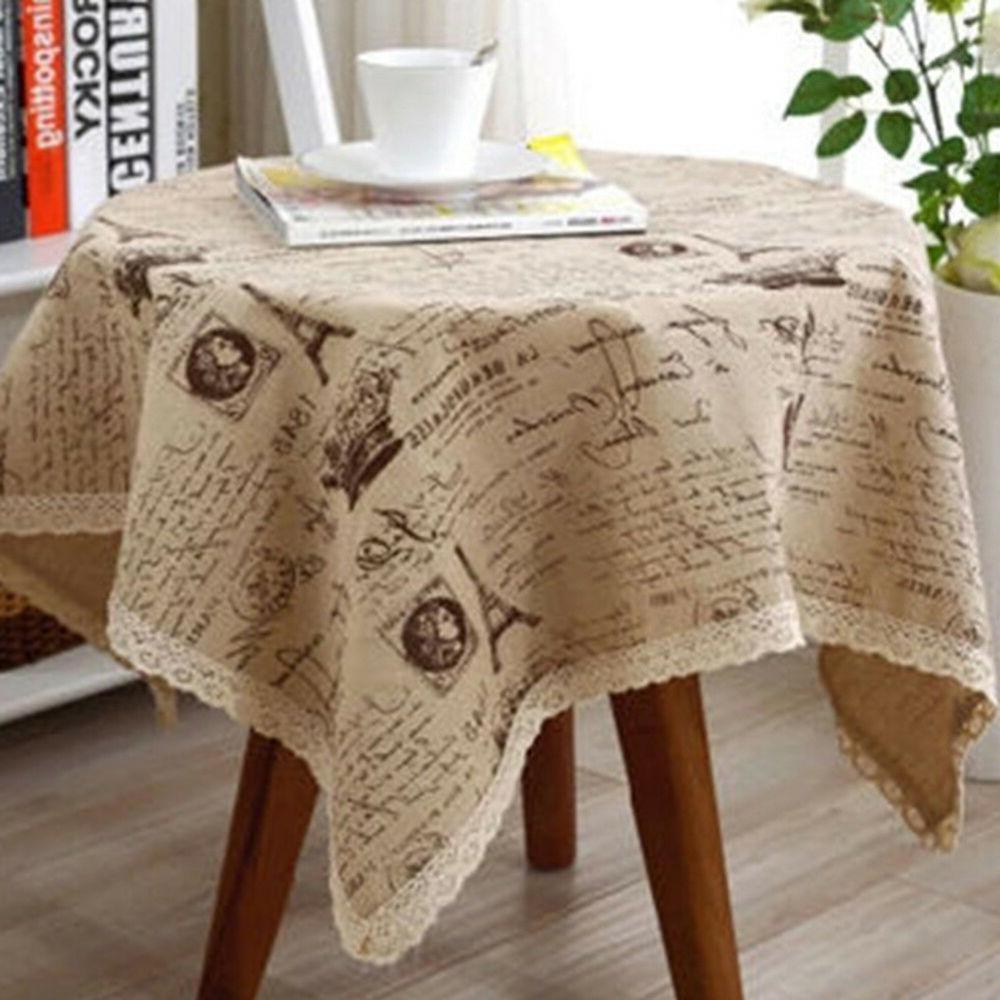 IK- Paris Eiffel Tower Table Cotton Gra