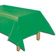 """Amscan Rectangular Plastic Table Cover   Festive Green   54"""""""