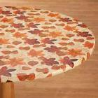 FITTED Autumn Leaves Vinyl Table Cover Round & Square Backed