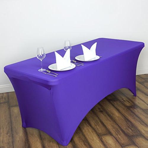 fitted purple rectangular stretchy spandex