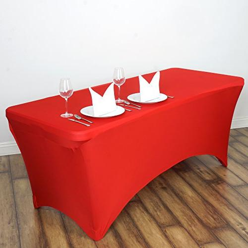fitted red rectangular stretchy spandex