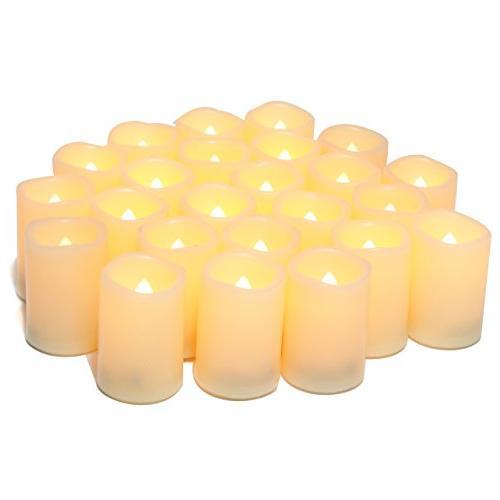 flameless flickering votive tea lights