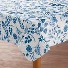 Flower Floral Vinyl Table Cover Round Oblong Flannel Backed