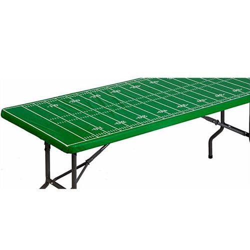 FOOTBALL FIELD PLASTIC TABLE COVER W/ ELASTIC EDGE ~ Sports