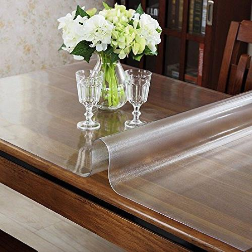 ETECHMART Clear PVC Table Top Protector 1.5mm Thick Multi Size 36 x 60 Inches