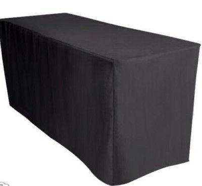 4' ft. Fitted Polyester Table Cover Wedding Banquet Event Ta