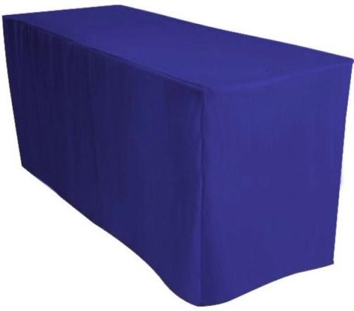 6' ft. Polyester Table Cover Booth Tablecloth BLUE