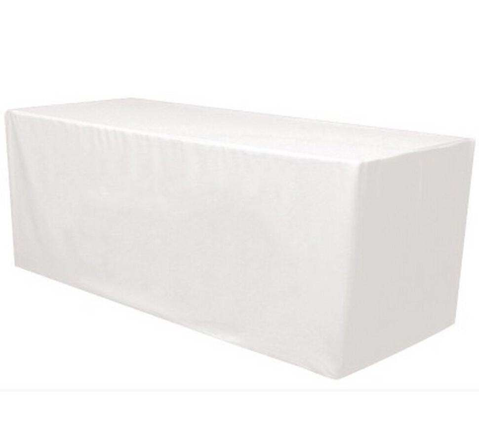 8' ft. Fitted Polyester Tablecloth Table Cover Wedding Banqu