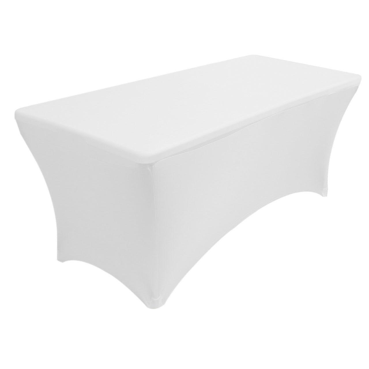 6' ft. Spandex Fitted Stretch Tablecloth Table Cover Wedding