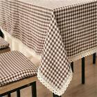 Geometric Grid Tablecloth Kitchen Tea Table Cloth Cover Xmas