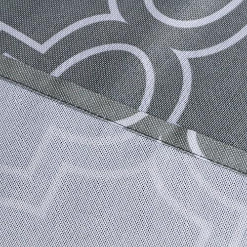 Eforcurtain Rectangle Print Polyester Table Cover 52 By 52Inch, Grey and