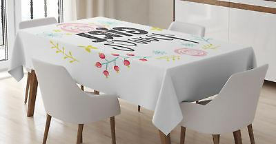 Ambesonne Girl Tablecloth Ambesonne 3 Sizes Rectangular Tabl