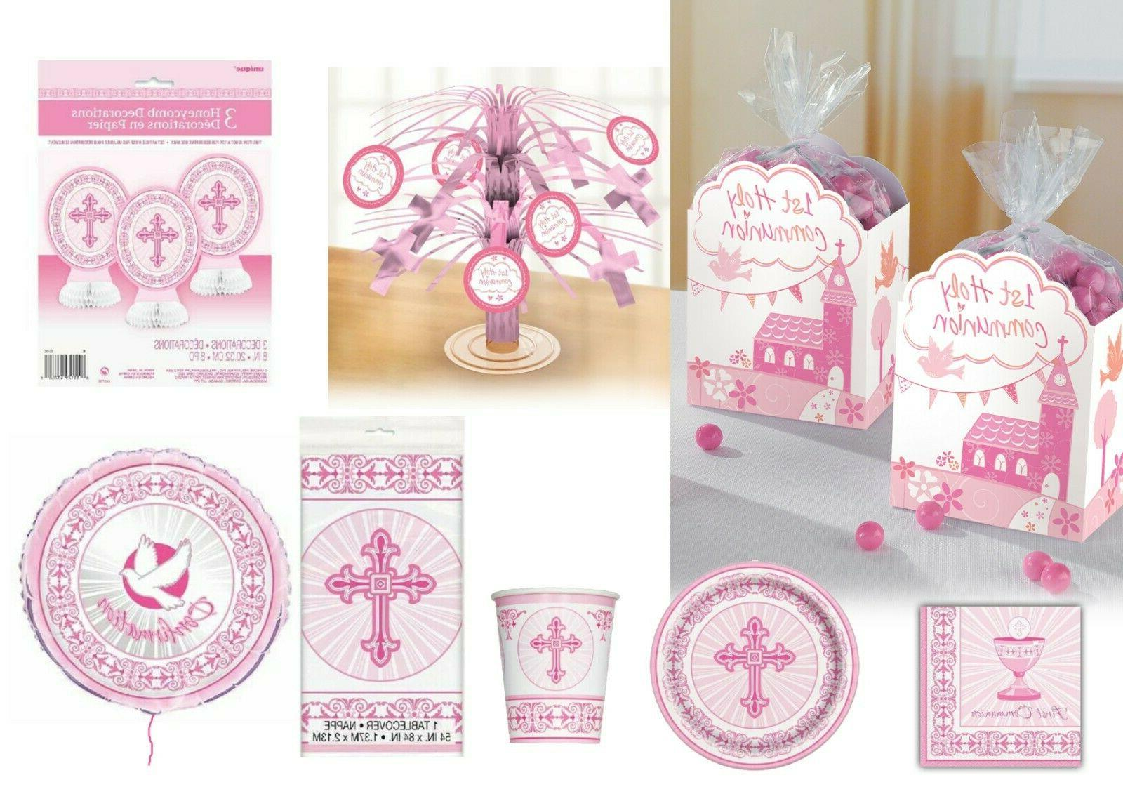 girls 1st first holy communion party tableware