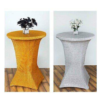glitz tablecloth cocktail spandex table cover