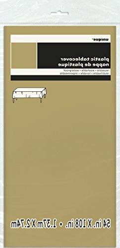 gold plastic table cover 54