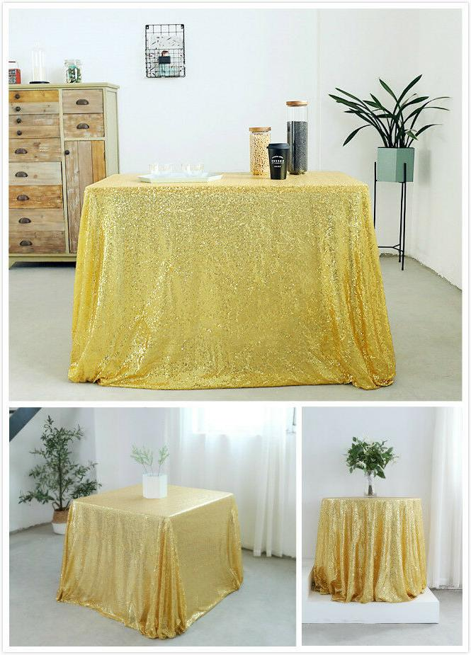 gold sequin tablecloth table cover dining table