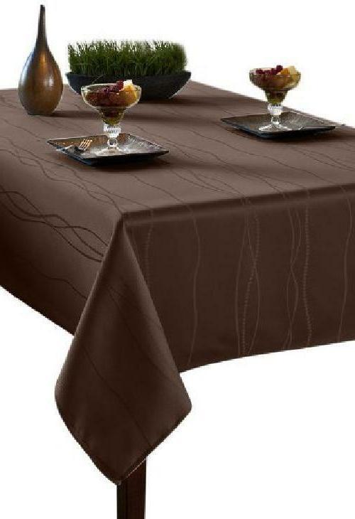 Benson Mills Gourmet Spillproof Fabric Tablecloth, Chocolate