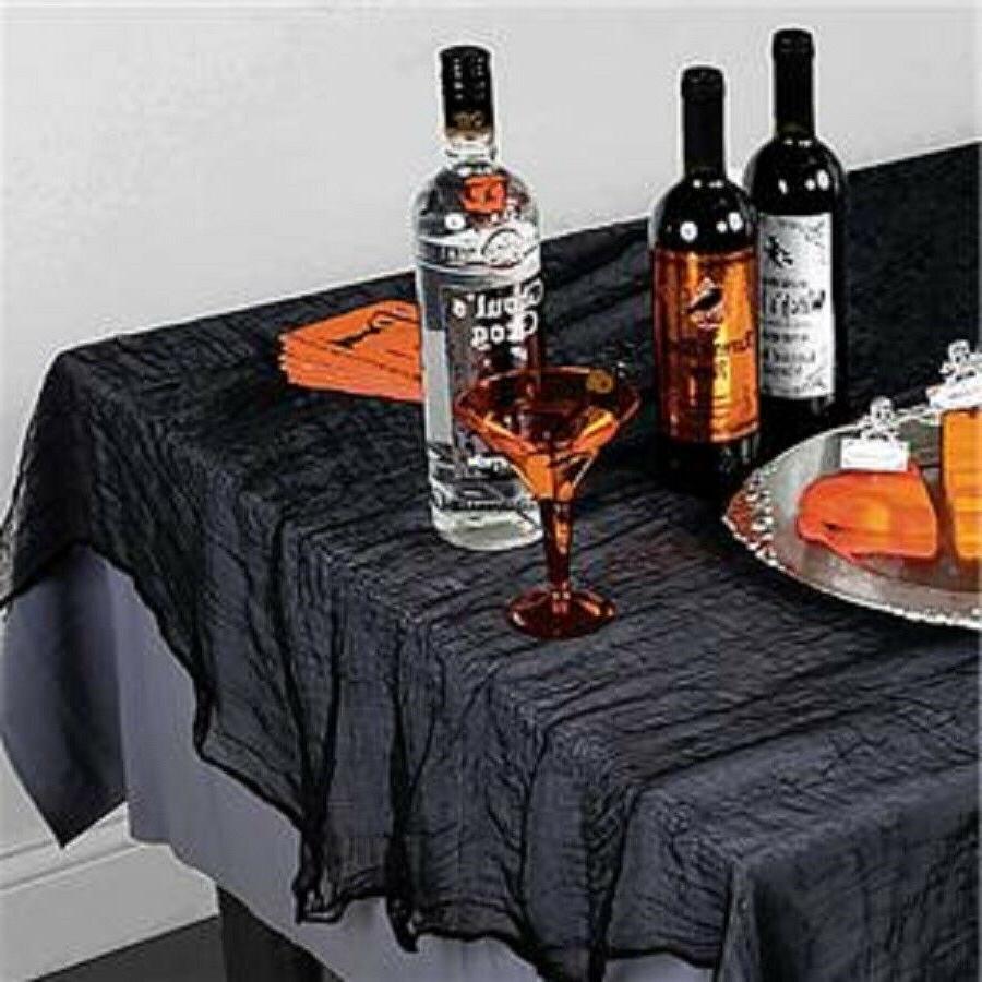 halloween black gauze table cover 60x84in halloween