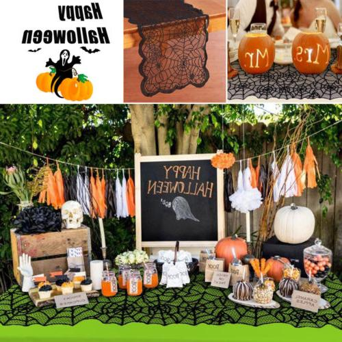 Halloween Table Runner Lace Tablecloth Cover A