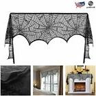 Halloween Spiderweb Lace Fireplace Mantle Scarf Cobweb Table