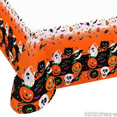 halloween spooky smiles plastic table cover birthday