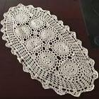 hand crochet table doily rustic floral pattern